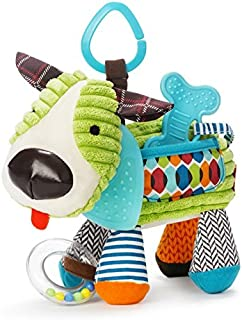 Skip Hop Bandana Buddies Baby Activity and Teething Toy with Multi-Sensory Rattle and Textures, Puppy
