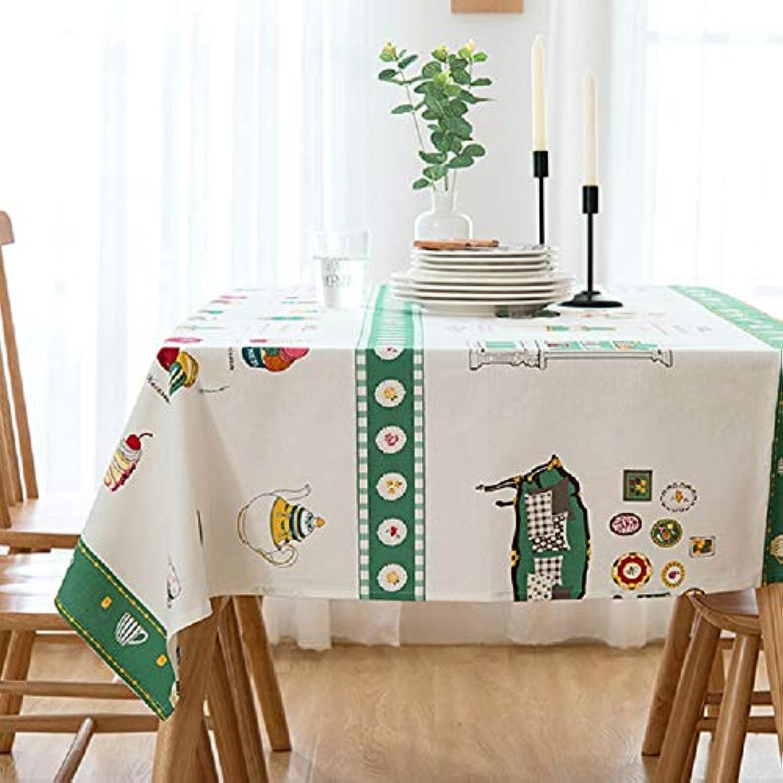 WJJP Nappe de Bande dessinée de ménage, Serviette de Couverture de Nappe de Style Pastoral littéraire, Nappe de décoration de Table de Cuisine (Couleur    3, Taille   110  170cm)