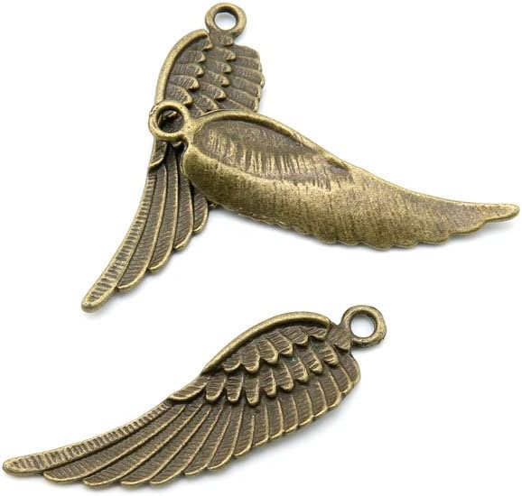 500 Pieces Jewelry Making Charms Long-awaited Findings F Antique Brass Charlotte Mall Bronze