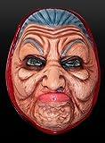 Latex Maske garstige Oma Großmutter alte Frau Hexe Halloween Karneval