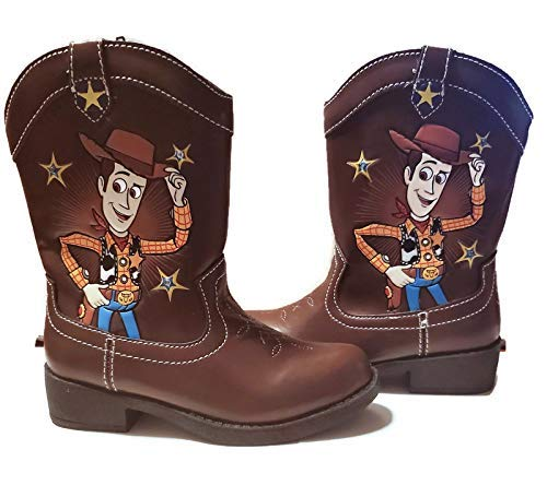 Disney Pixar Toy Story Toddler Boys Light Up Woody Cowboy Boots (Toddler/Little Kid, Size 7) Brown