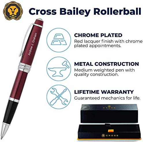 Cross Bailey Chrome Roller Pen and 0.7 mm Pencil Set AT0455-10 and AT0453-10