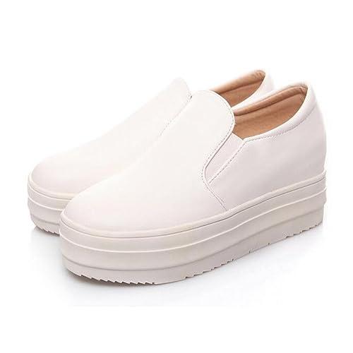 Summerwhisper Women s Casual Elastic Low Top Loafers Platform Slip on Flat  Sneakers fcf4b75b3