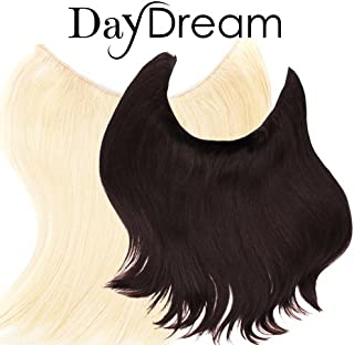 Halo style Hair Extensions - DayDream Hair by Hidden Crown on a wire - 100% Human Remy Couture Hair -No Clips, No Glue, No...