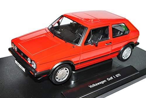 Welly Volkwagen Golf I GTI Rot 3 Türer 1974-1983 1/18 Modell Auto