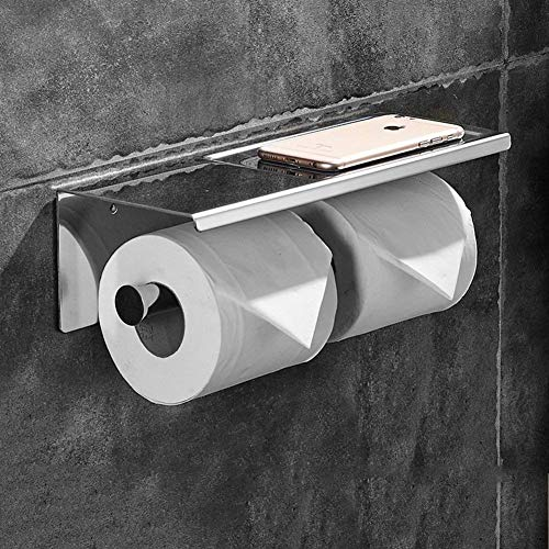 Leyue Toilet paper holder Family Bathroom Toilet paper Spool Stainless steel square box (Size: B) (Size : A)