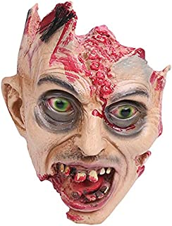 SODIAL Halloween Horror Mask Festive Mask Zombie Head Scream Decoration Halloween Party Decoration