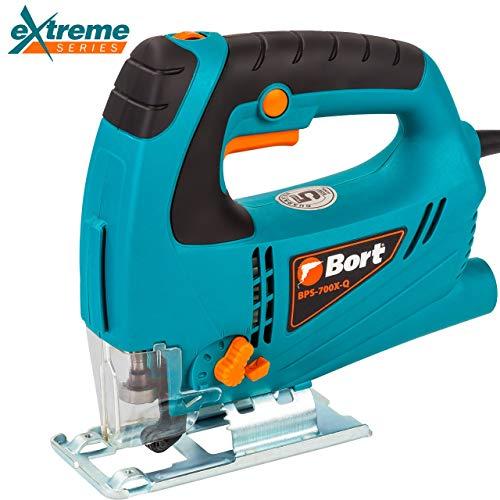 Bort Stichsäge BPS-700X-Q 650 Watt, 500-3000 UpM, elektronischer Drehzahlregelung, Pendelhubstichsäge, Schnitttiefe: Holz 65 mm, Metall 8 mm