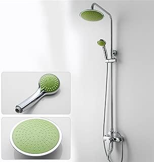Caribou 3-Setting Bathroom Shower Systems Soild Brass Set Height Adjustable Luxury Rain Mixer Shower Combo Set