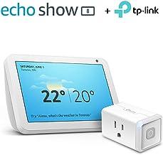 Echo Show 8 (Sandstone) with TP-Link Smart Plug