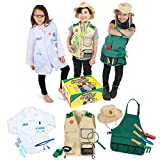 Born Toys Premium dress up Trunk set for ages 3-7-Scientist-explorer- kids gardening all costumes include accessories and are washable