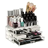 JRM s Cosmetic Makeup Jewellery Lipstick Storage Organiser Holder Box (Drawer+16PART)