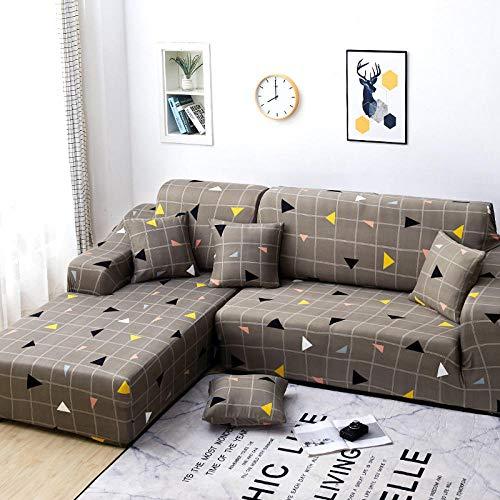 B/H Fundas de sofá de Esquina,Funda de sofá Todo Incluido, Funda de sofá de Tela elástica-H_90-140cm,3 Plaza Funda de Sofá Elástico Cubierta