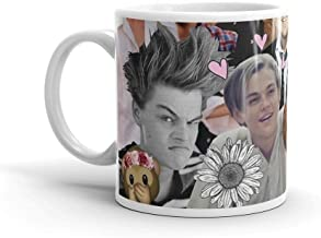 Leonardo DiCaprio Collage. 11 Oz Ceramic Coffee Mug Also Makes A Great Tea Cup With Its Large, Easy to Grip C-handle