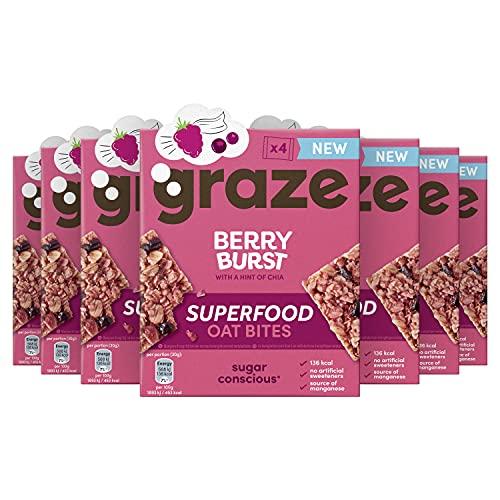 Graze Berry Burst Superfood Oat Bites Havermoutrepen – 7 x 4 Repen (120 g)