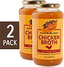 Chicken Broth by Zoup! Keto-Friendly, Gluten Free, Sugar Free Clear Chicken Broth - Great for Stock, Bouillon, Soup Base or to Drink (2-Pack)