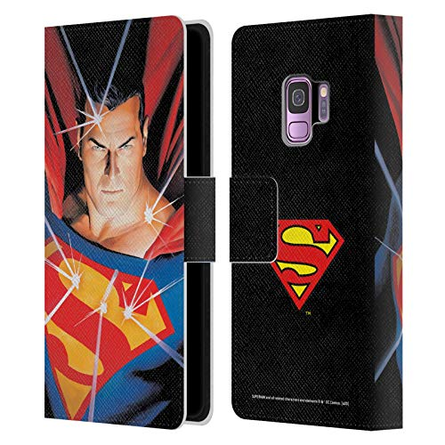 Head Case Designs Officially Licensed Superman DC Comics Alex Ross Mythology Famous Comic Book Covers Leather Book Wallet Case Cover Compatible with Samsung Galaxy S9