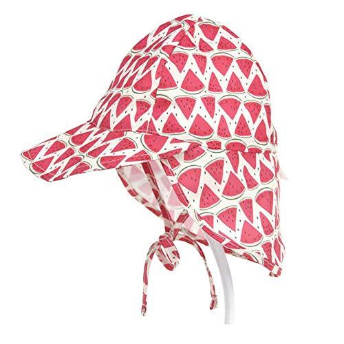 Lazzon Baby Jungen Mädchen Sonnenhut mit Nackenschutz UV Schutz UPF50+ Sommerhut für Strand, Angeln, Reise, Schwimmbad, Ausflug Hut