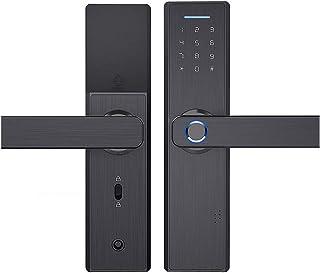 WiFi eletrônico APP Senha Fechadura da porta Fechaduras biométricas inteligentes de impressão digital Fechadura da porta d...