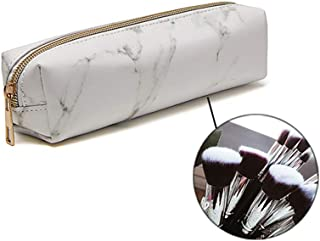 Brishow Accessories Makeup Bag MarblingTravel Cosmetic Bling Shiny Toiletry Pencil Bags Purses Foldable Waterproof Case for Women and Girls white