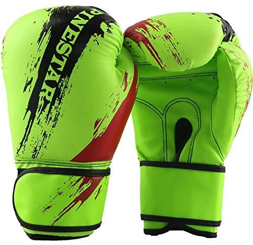 SHOUTAO Hochwertige Bunte Boxhandschuhe für Kinder Fitnesshandschuhe Kampfhandschuhe Boxhandschuhe Geburtstagsgeschenke@Grün