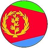 Decoración para tarta con diseño de bandera de Eritrea – redondo – Círculo de 8 cm – Cumpleaños – Fiesta – Celebración – Evento