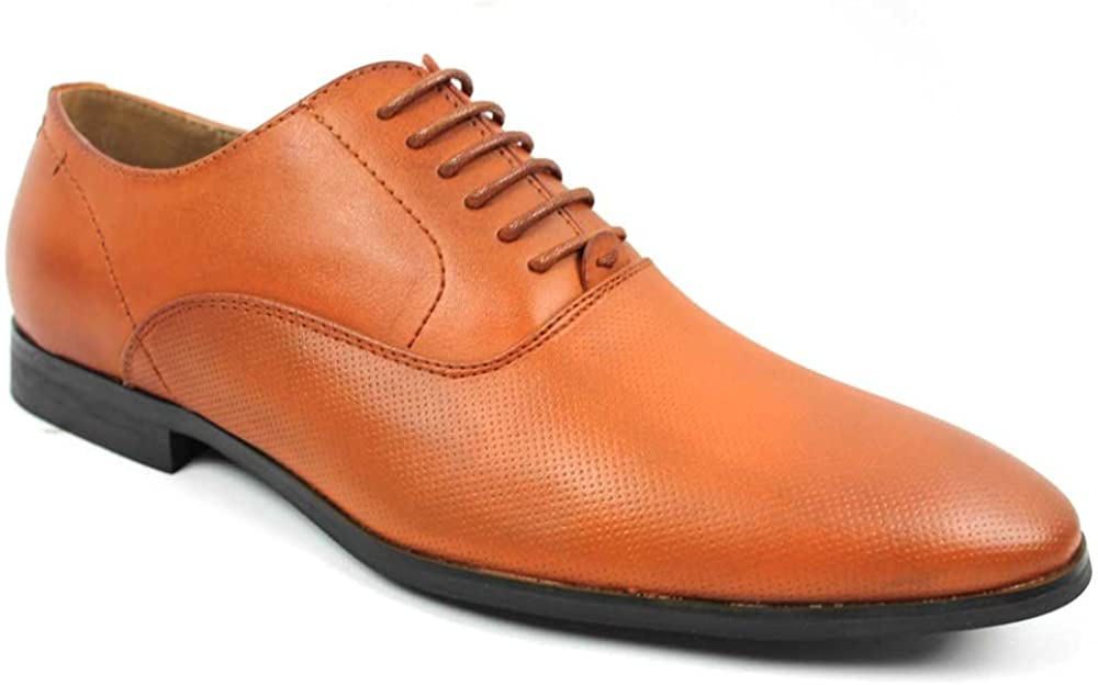 New Men's Shoes Modern Pointed Round Toe Dotted Dress Lace up Oxfords by Azar