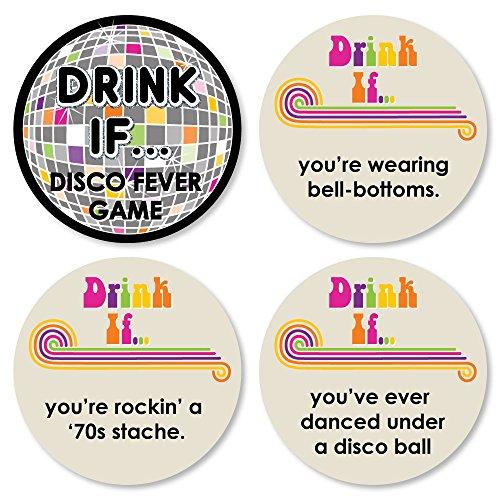Drink If Game – 70er Jahre Disco – 1970er Jahre Disco Fever Partyspiel – 24 Stück