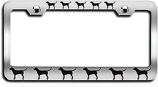 Lovable Petz - Labrador Retriever Dogs Pets Ch Steel License Plate Frame, License Tag Holder