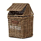Riviera Maison - Rustic Rattan - Recycle - Tischmülleimer - Peddigrohr - Natur - (BxHXL) 13 x 13 x 21cm - 2