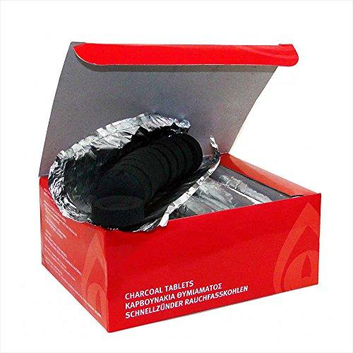 NKlaus carbón de Incienso para Fumar Shisha 10 Rollos Ø 33mm 100 Piezas