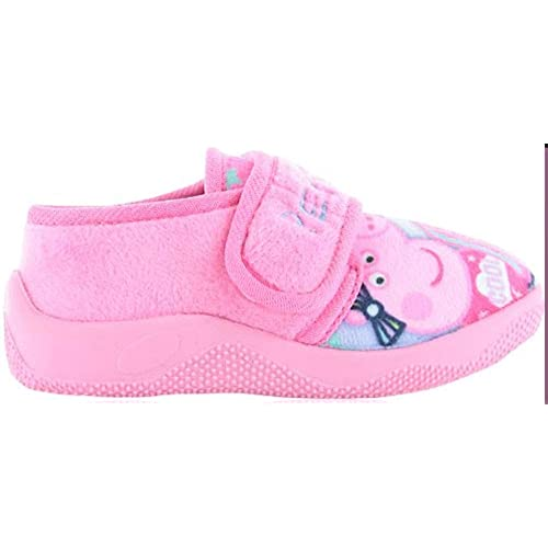 8a7a8f2b86d1e Girls Nick Junior Peppa Pig Slippers Shoes Pink Lilac Children s Toddler  Size UK ...