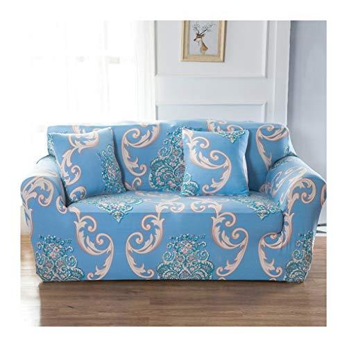WUFANGFF Slipcover Motivo Floreale Geometrico Stretch Sofa Tessuto in Fibra Chimica Fodera Divano Copridivano Sofa Furniture Protector, 3seat
