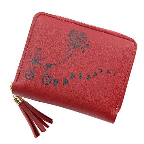 Regen Vrouwen Kleine Portemonnee Vrouwen Outdoor Effen Kleur Gevlochten Lederen Card Portemonnee