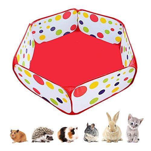 Recinzione portatile per piccoli animali, per esterni e interni, per esercizi di animali domestici, accessori per porcellini d'India in filo di metallo, tenda per conigli, cincillà e ricci
