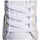 Flat Shoelaces 5/16' (4 Pair) - For sneakers and converse shoelaces replacements (54' inches (137 cm), White)