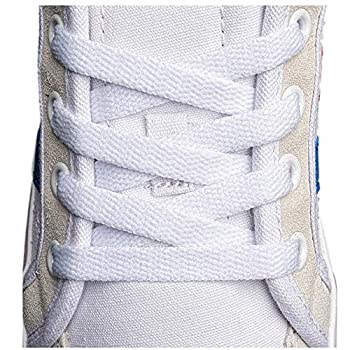 Flat Shoelaces 5/16   4 Pair  - For sneakers and converse shoelaces replacements  45  inches  114 cm  White