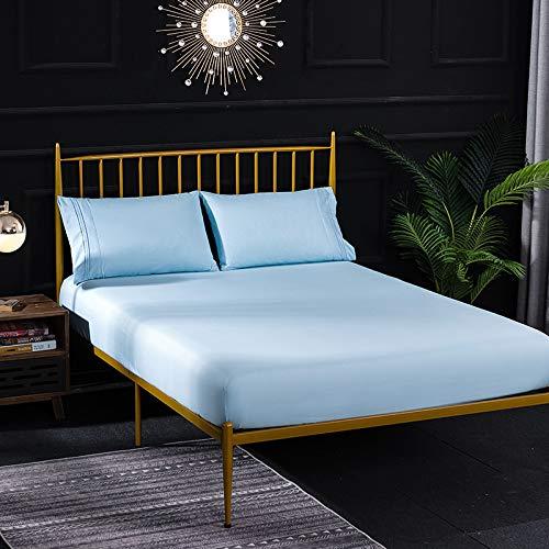 NTtie Sábana Ajustable súper Suave, cálida y acogedora Protector de colchón Cepillado de Color Puro