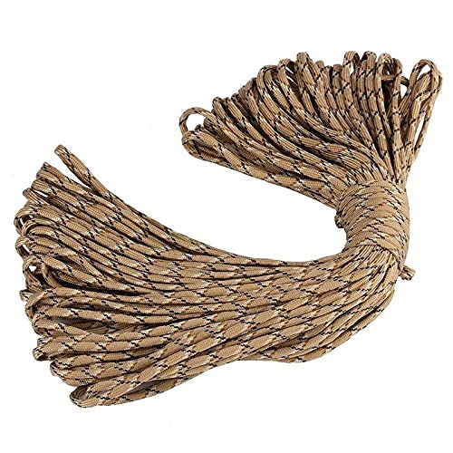 POPXP Tent Rope 5Mm 7 Stand Cores Paracord for Survival Parachute Cord Lanyard Camping Climbing Camping Rope Hiking Clothesline-C08_31M/Bundle