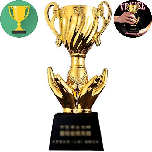 Trofee Art Angel Wings Gold Trophy Eerste Prijs Voor Schoolstudent Basketbalcompetitie Cadeau Voor Elke Gelegenheid Belettering Maken (Color : Gold, Size : 26 * 8cm)