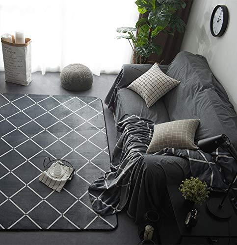 EKEA-Home® Alfombra geométrica Antideslizante, Lavable, Gr