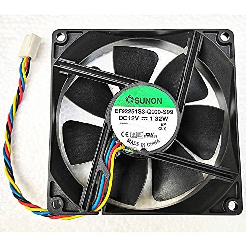 Sunon EF92251S3-Q000-S99 92mm 9225 12V computer case fan,4-Wire Mute PWM Speed Control Fan