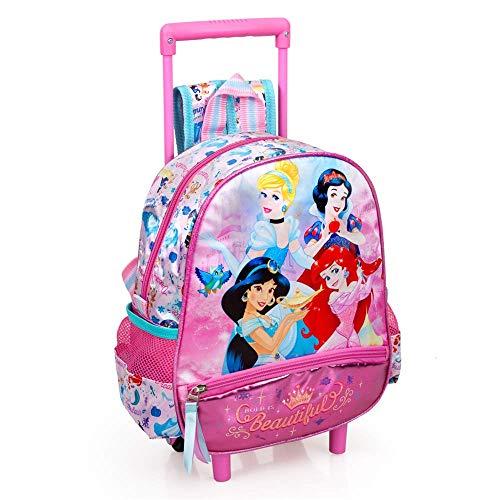 Zaino Asilo con Trolley Principesse Disney Cenerentola Jasmine Biancaneve Ariel 2 Ruote Manico ALLUNGABILE-10816C