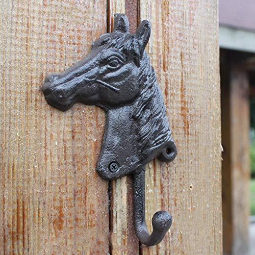 WRZHL Artículos de hogar nostálgicos Europeos de la decoración de la Pared de la Cabeza de Caballo del arrabio Retro Wall Hanging