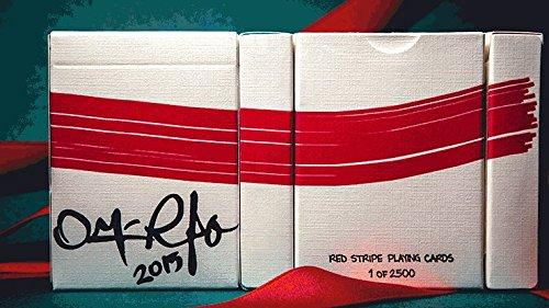 Mazzo di Carte Red Stripe Playing Cards - Mazzi di Carte da Gioco - Giochi di Prestigio e Magia - SOLOMAGIA