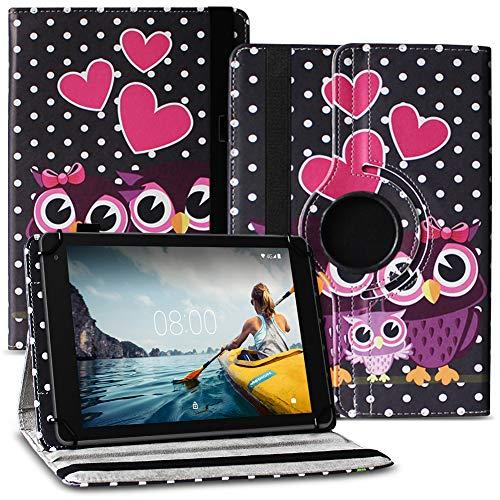Nauci Tablet Hülle kompatibel für Medion Lifetab E10420 Tasche Schutzhülle Hülle Universal Cover aus Kunst-Leder Standfunktion 360° Drehbar praktische Standfunktion, Farbe:Motiv 3
