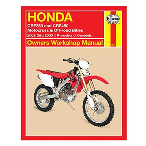 Honda CRF250/CRF450 Motocross/Off-road Bikes, 04-'06 Technical Repair Manual