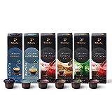 Tchibo Cafissimo Probierset Premium Edition verschiedene Sorten Caffè Crema und Espresso, 60 Stück (6x10 Kaffeekapseln), nachhaltig & fair gehandelt