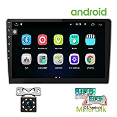 【2 Din Car Stereo】 main screen size: 250(W)*145(H)mm. With metal sheet fixed on, installation size: 180(W)*75(H)*70(D)mm. 10.1 inch 2.5D tempered glass mirror. With double USB adapter input, RCA output/input port 【Bluetooth & FM Radio】Bluetooth with ...