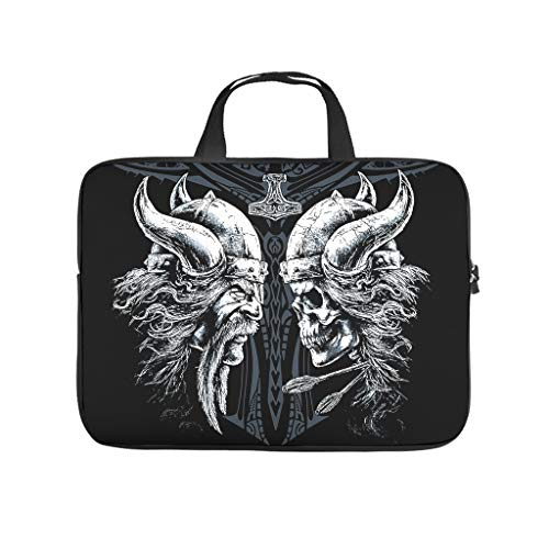 Viking World Tour Laptop Case Bag Water-Resistant Laptop Case Laptop for Computer Notebook White 13 Zoll